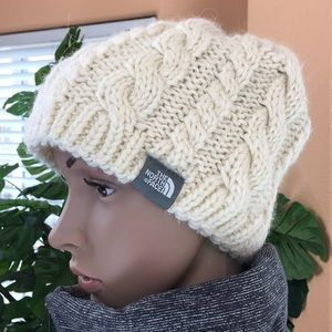 The North Face Wool Beanie In Cream